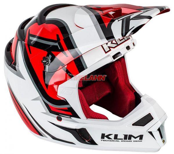 KLIM Helm: F4 Radar, rot/weiß, Gr.XL