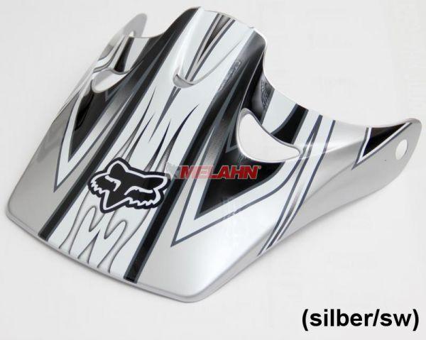 FOX Helmschirm: Visor Tracer 2005, silber-matt