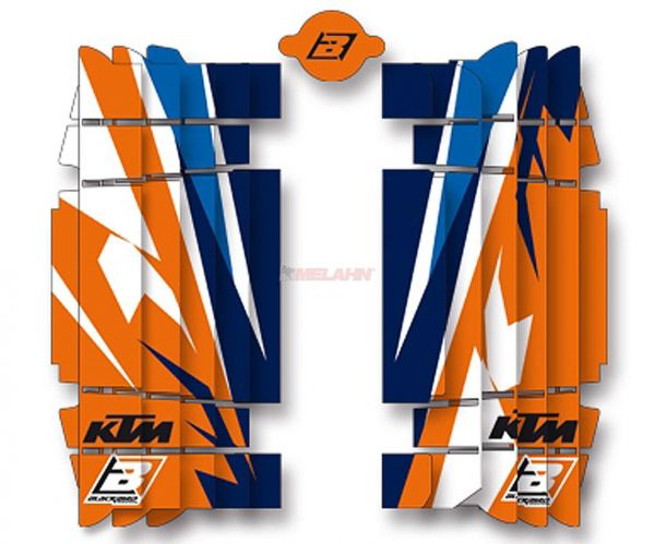 BLACKBIRD Kühlerschutz Aufkleber (Paar) KTM/HVA, Trophy SX 19- / EXC 20-