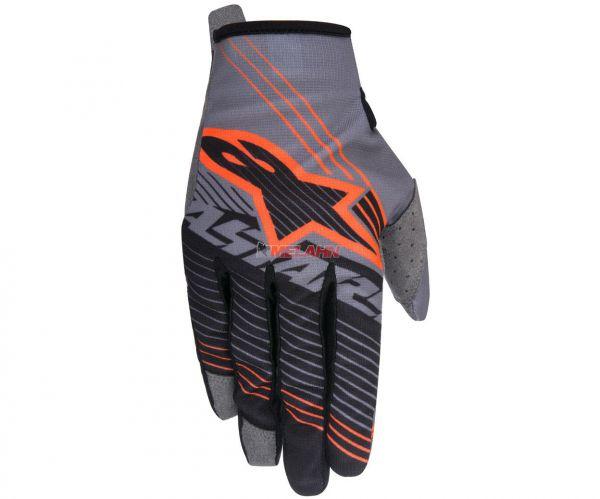 ALPINESTARS Handschuh: Radar Tracker, grau/schwarz/neon-orange