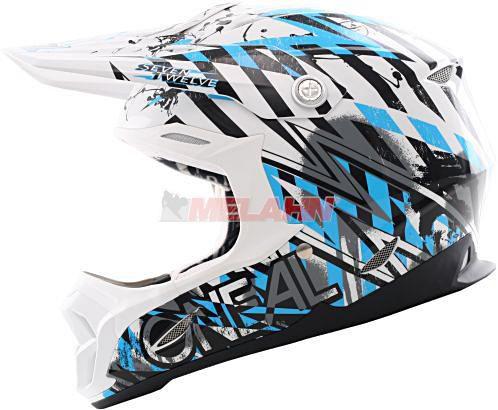 O'NEAL Helm 712, ws/blau, Gr.XL