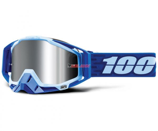 100% Racecraft Plus Rodion Goggle Motocross MTB MX Enduro Cross Brille, blau/türkis (verspiegelt)