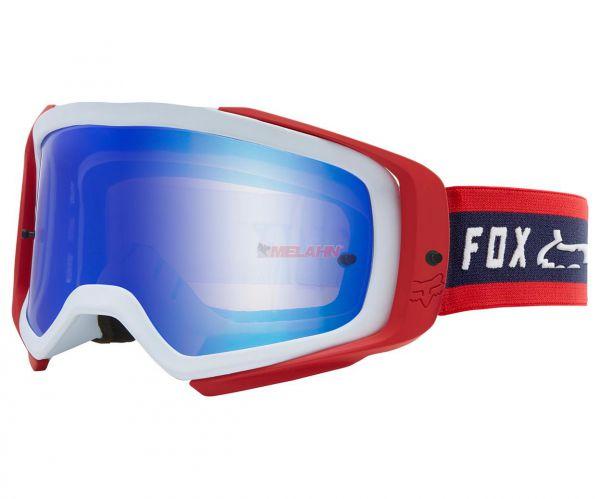 FOX Brille: Airspace II Prix Spark, rot/blau
