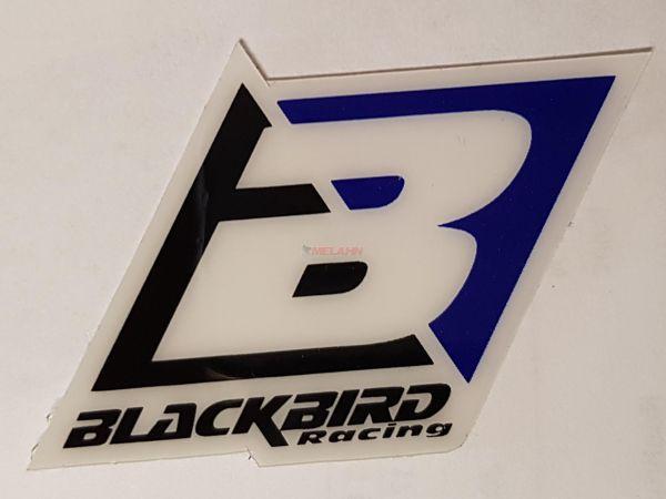 BLACKBIRD Aufkleber: Logo, 6,5x4,5cm, blau
