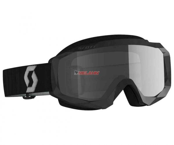 SCOTT Hustle MX Brille Motocross Enduro Goggles Crossbrille schwarz/grau klares Glas