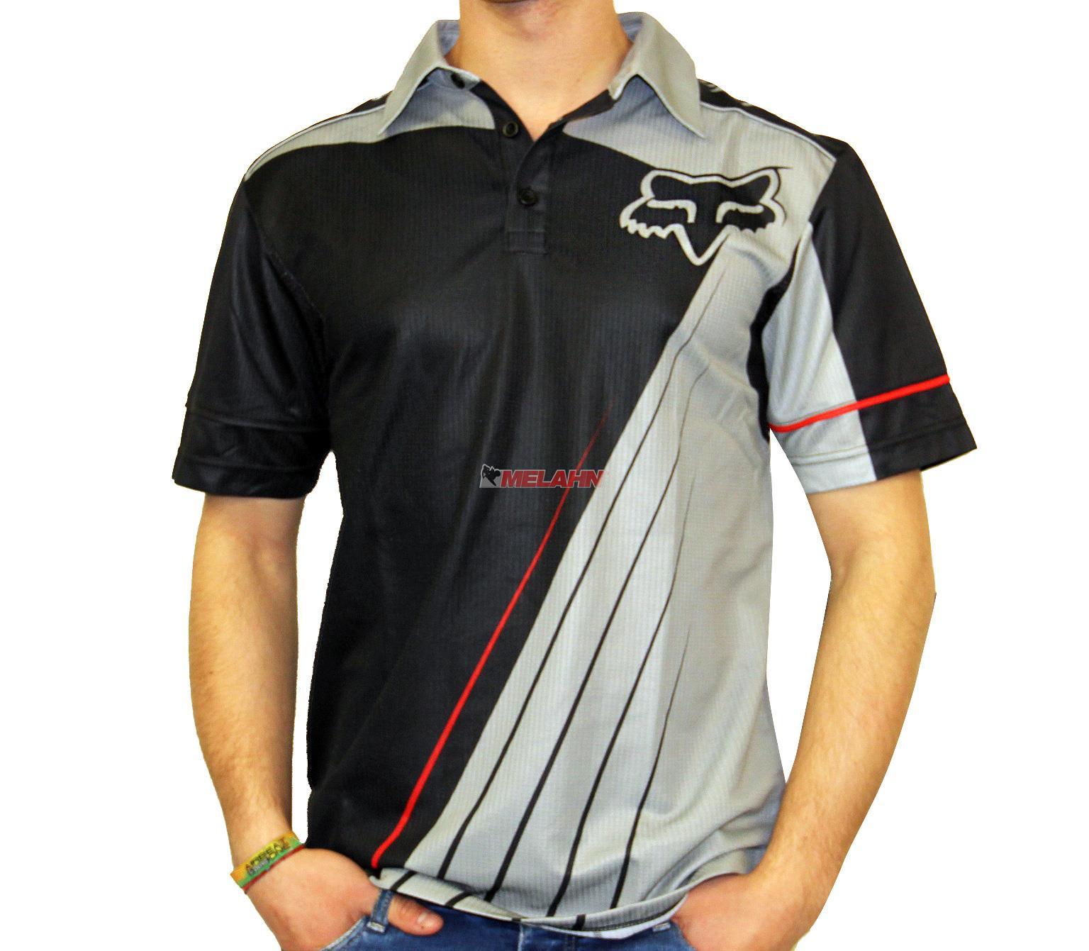 Fox Polo Shirt Dealer Schwarz Grau Hemden Polos