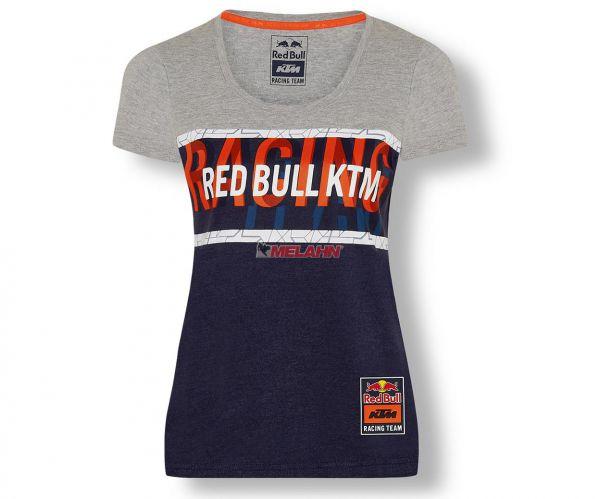 KTM RED BULL Girls T-Shirt: Letra, grau/navy