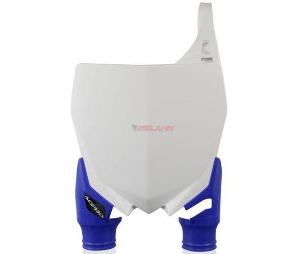 ACERBIS Starttafel: Raptor, weiß/blau, YZF 250 10-18 / 450 10-17