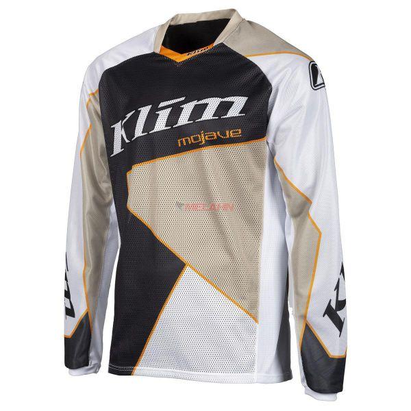 KLIM Jersey: Mojave, weiß/schwarz/sand/orange