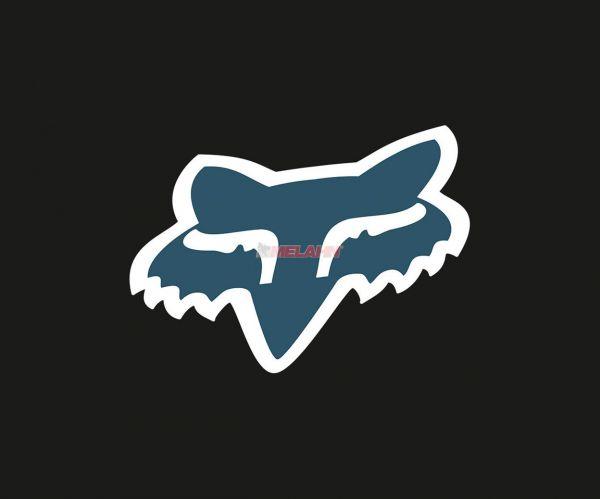 FOX Aufkleber: Head 18 cm, blau