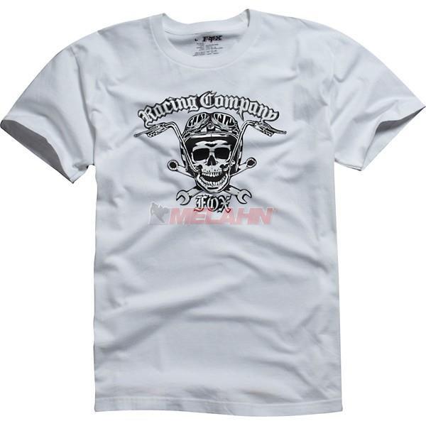 FOX T-Shirt: Motogression, weiß, Gr.: S