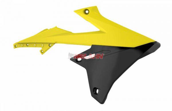 POLISPORT Spoiler (Paar) Kühlerverkleidung, RMZ 250 19- / 450 18-, gelb