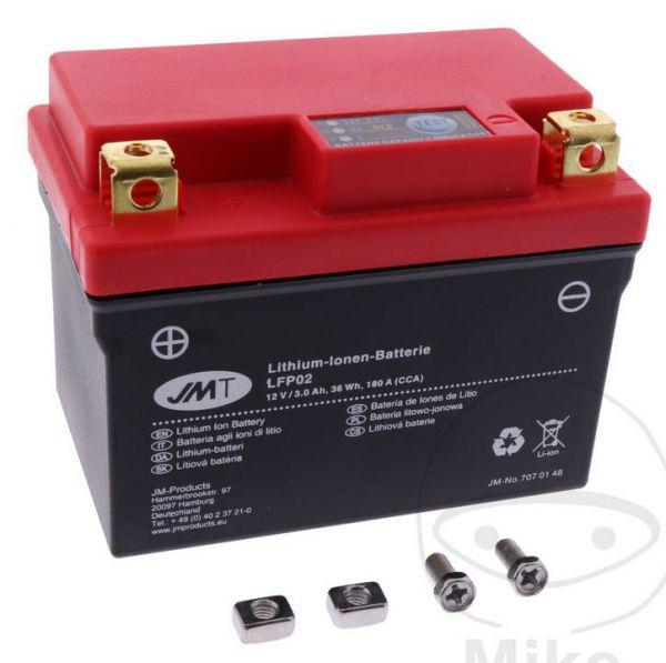 JM Lithium Ion Batterie LFP02 Yamaha YZF 250 19- / 450 18-