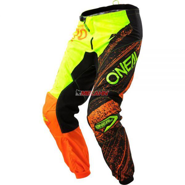 ONEAL Hose: Element Burnout, schwarz/neon-gelb/orange