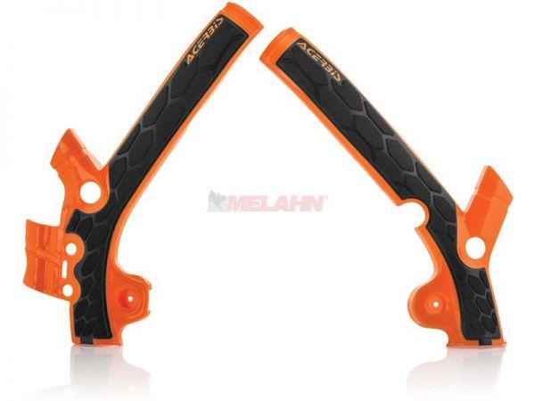 ACERBIS Rahmenschützer (Paar): X-Grip, orange, 85 SX 13-17