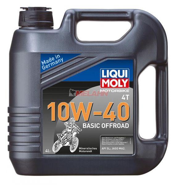 LIQUI MOLY Motoröl: Motorbike 4T 10W-40 Basic Offroad, 4l