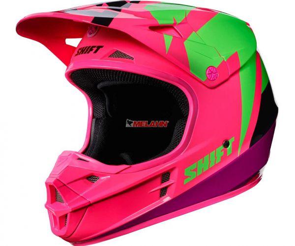 SHIFT Helm: V1 Whit3 Tarmac, schwarz/pink