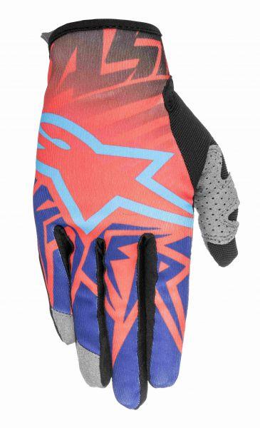ALPINESTARS Handschuh: Racer Justin Barcia Limited Edition, rot/blau