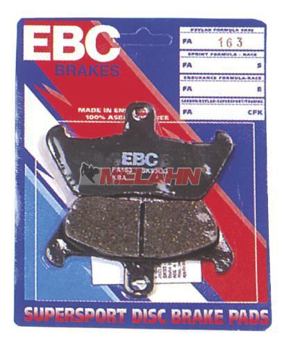 EBC Bremsbeläge, Semi-Metall, hinten, HVA -94/KX65 00-/RM65 03-05
