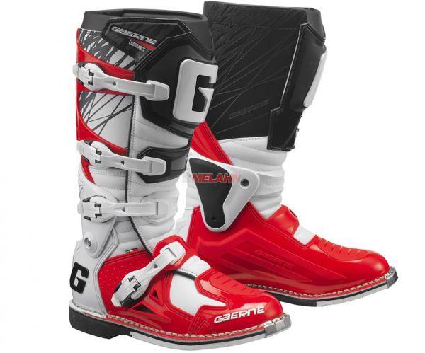 GAERNE Stiefel: Fastback Endurance, schwarz/weiß/rot
