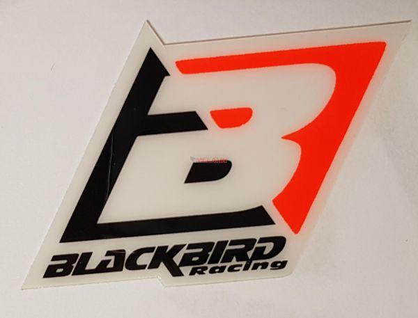 BLACKBIRD Aufkleber: Logo, 6,5x4,5cm, neon-orange