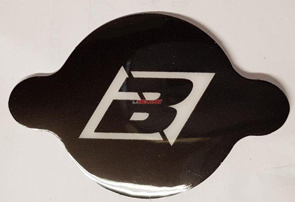 BLACKBIRD Aufkleber für Kühlerdeckel, schwarz