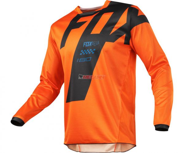 FOX Youth Jersey: 180 Mastar, orange