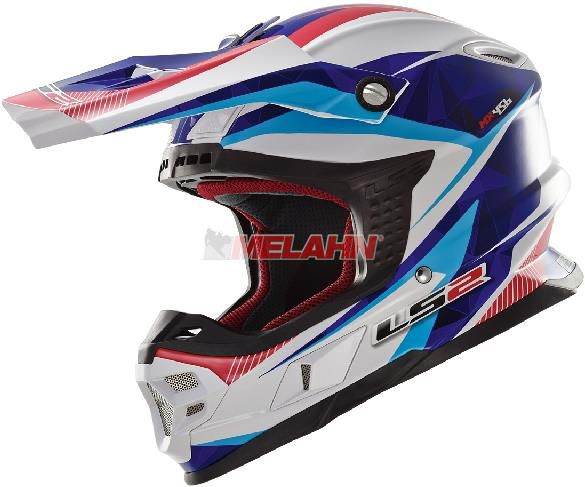 LS2 Helm: MX 456 Light, Quartz , weiß/blau