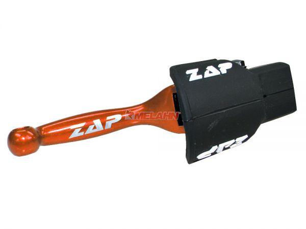 ZAP Flex-Handbremshebel KTM SX/EXC 14- / HUSQVARNA FC/FE/TC/TE 14-18, orange
