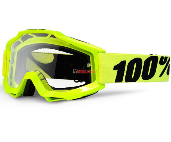 100% Accuri Fluo Goggle Motocross MTB MX Enduro Cross Brille, Yellow