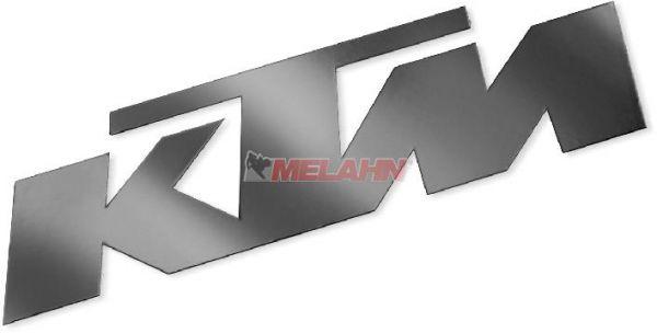 KTM Aufkleber reflektierend, 7,2x2,4cm, schwarz (Stück)