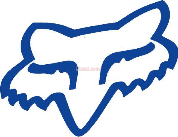 FOX TDC-Aufkleber: Head 11,5x9cm, blau