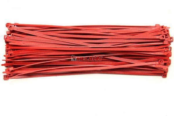 MT Kabelbinder (100 Stück), farbig, 180mm, rot