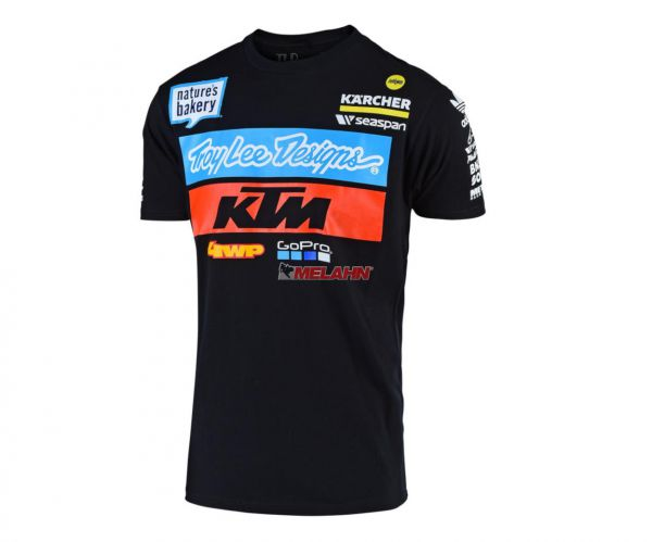 TROY LEE DESIGNS T-Shirt: KTM Team, schwarz