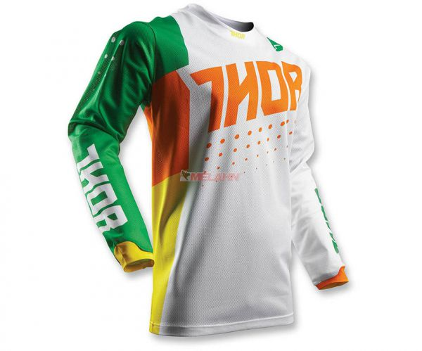 THOR Jersey: Pulse Air, cactus, weiß/grün/orange