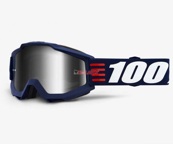 100% Brille: Accuri ARt Deco, blau/silber verspiegelt