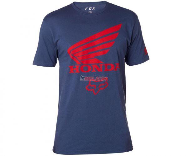 FOX Premium T-Shirt: Honda, blau/rot