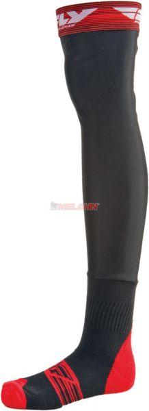 FLY Knee Brace Socke (Paar), grau/rot