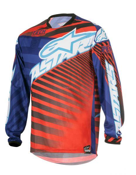 ALPINESTARS Hemd: Racer Justin Barcia Limited Edition, rot/blau