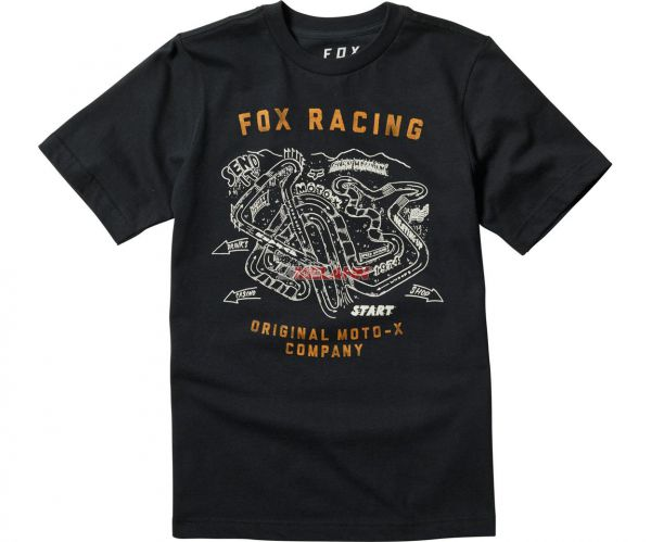 FOX Youth T-Shirt: Fast Track, schwarz