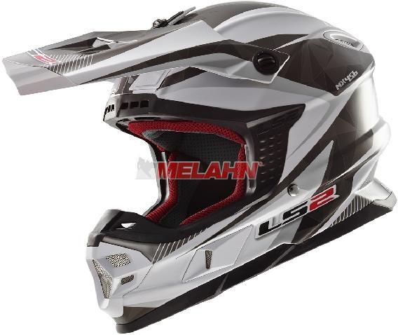 LS2 Helm: MX 456 Light, Quartz , weiß/schwarz