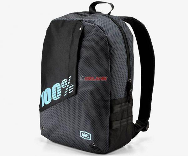 100% Rucksack: Porter Static, schwarz/grau