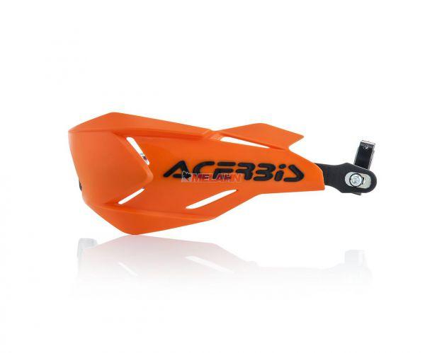 ACERBIS Handprotektor (Paar): X-Factory, orange/schwarz
