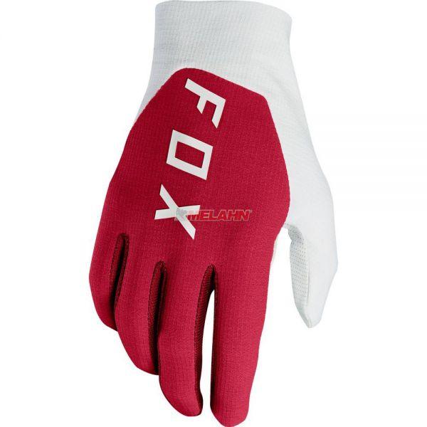 FOX Handschuh: Flexair Preest, dunkelrot