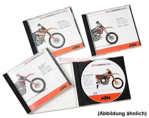 KTM Werkstatthandbuch auf DVD: RC 125/390 2014-19