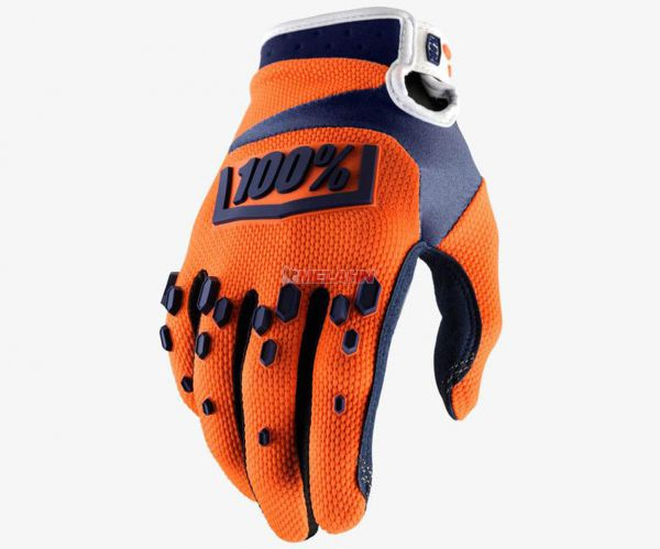 100% Handschuh: Airmatic, orange/navy