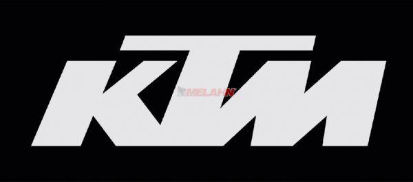 FX Aufkleber TDC: KTM 31x4,5cm, weiß