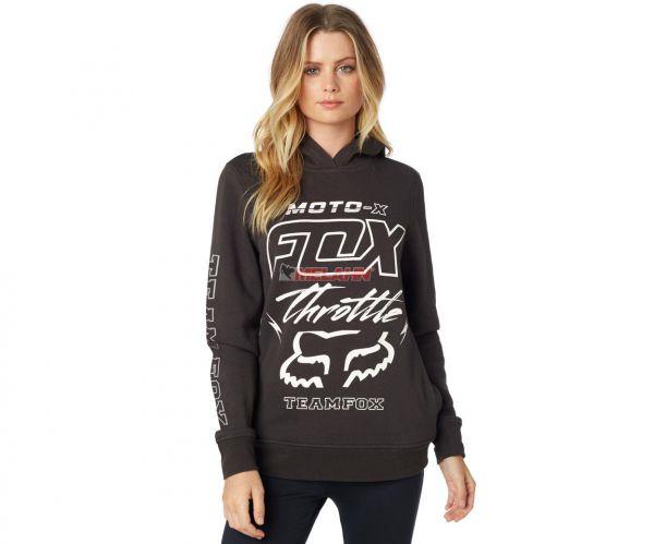 FOX Girls Hoody: Throttle Maniac, black vintage