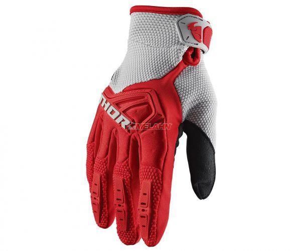 THOR Handschuh: Spectrum, rot/grau