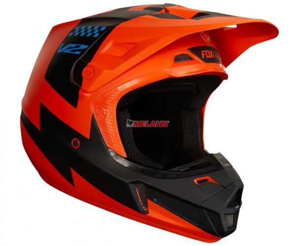 FOX Youth Helm: V1 Mastar, orange